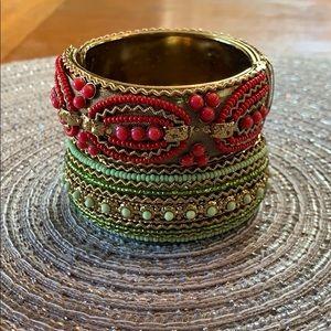2 Boho Chic Beaded Bracelets
